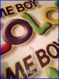 Game Boy Color 90's Vintage Nintendo Store Display Vinyl Banner Sign 5' X 3