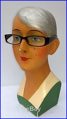 Great, antique, art-deco mannequin, flapper girl, charleston, mannequin head