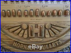 Hornady Vintage Bullet Cartridge Store display board, great condition