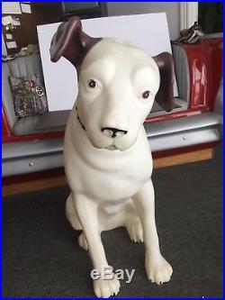 Huge Vintage RCA Victor Nipper Dog Plastic Store Display Advertising 37