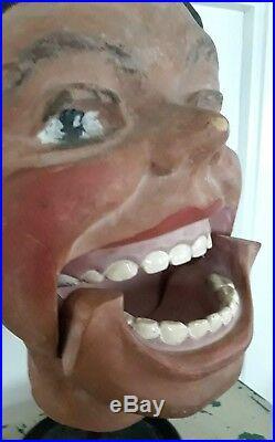 Huge vintage XXL head, Comedy, Cinema, Theater, Ventriloquist, Fun, mannequin, teeth