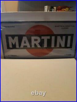 INSEGNA TABELLA MARTINI SMALTATA VINTAGE 50x25