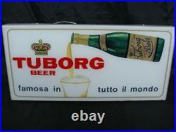 Insegna Birra Tuborg Old Sign Beer Anni 50 Targa Luminosa Epoca Vintage