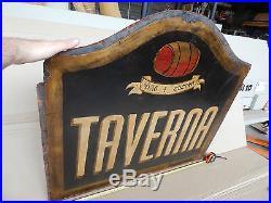 Insegna Effetto Vintage Epoca Taverna Cucina Vino Per Trattoria Enoteca Etc