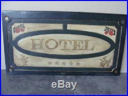 Insegna Hotel Sign Vintage