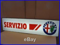 Insegna Luminosa Servizio Alfa Romeo Milano Giulia Alfa Sprint Giulietta Vintage