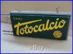 Insegna Luminosa Totocalcio Scommesse Sportive Calcio Old Sign Vintage Italy