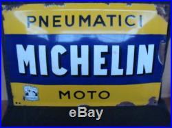Insegna Michelin Pneumatici Moto old sign vintage Moto Guzzi Gilera Bianchi