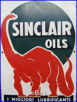 Insegna Sinclair oils lubrificanti old sign vintage per Fiat Lancia Alfa Romeo
