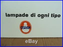 Insegna Smaltata Osram Lampadine Vintage Sign Smalterie Lombarde