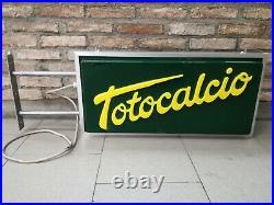 Insegna Totocalcio stile vintage