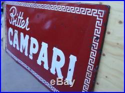 Insegna smaltata Bitter Campari old vintage sign italy