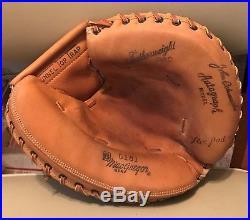 John Edwards Macgregor Vintage Baseball Catcher's Mitt And Store Display Box