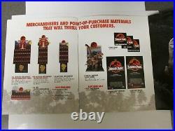 Jurassic Park 1993 Vintage Vhs Store Sign Poster Display Complete Marketing Kit