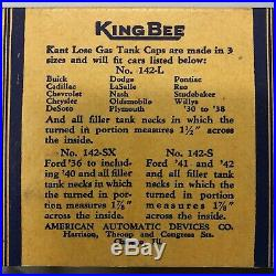 KING BEE Kant Lose Gas Cap Vintage Accessory Store Display Ford Hot Rod NOS