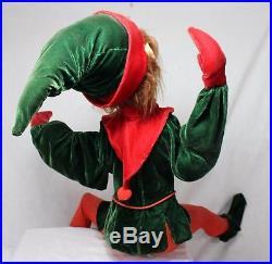Large Barrango Inc. ELF STORE DISPLAY Christmas Decoration MOVEMENT vintage