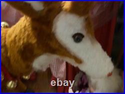 Life Size Animated Mechanical Hamberger Store Display Reindeer Christmas Vintage