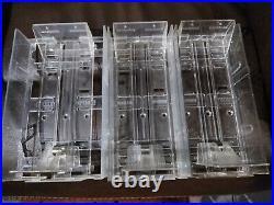 Lot of 3 vintage nintendo game holder store display Ajustable Rack nes snes n64