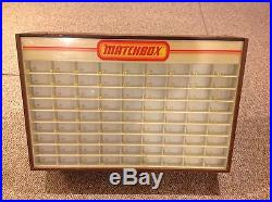 Matchbox vintage store display case original piece