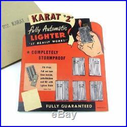 NOS Vintage Austrian Karat 2 IMCO Type Automatic Lighter Store Display Card Lot