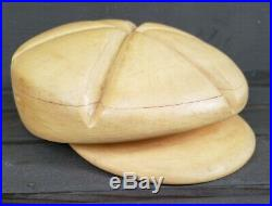 Newsboy Hat Mold Block Form Vintage Millinery Old Tool Wood Wooden Store Display