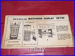 Nib Rare Vintage Round Rotating Matchbox Car Toy Store Dept Counter Display Case