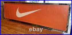 Nike Store Display sign Large Vtg Vintage Y2k 2000s Metal Advertisement