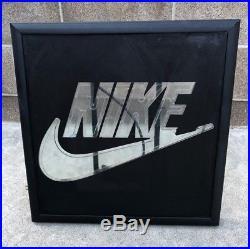 Nike Vintage 1990s Framed Neon Light Display Signage Swoosh Authentic Rare
