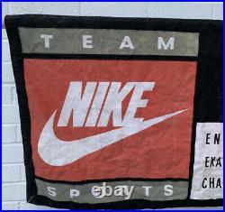 Nike Vintage 80s 90s Retro Team Sports XL Canvas Advertising Display Banner