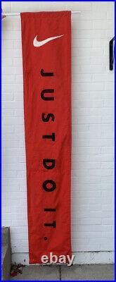 Nike Vintage Retro JUST DO IT Advertising Retail Canvas Logo Banner 81 Long