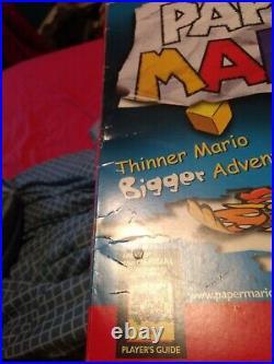 Nintendo 64 Paper Mario Authentic Store Display Big Box 19x13 N64 Vintage Promo