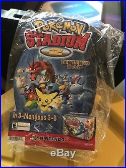 Nintendo 64 Store Display Stand Advertisement Pokemon Stadium 2 Sign N64 Vintage