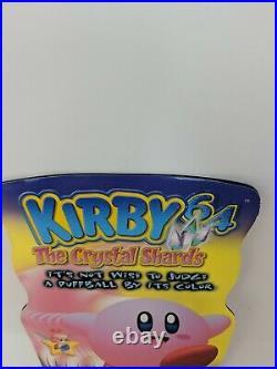 Nintendo N64 Kirby 64 Store Display Sign Standee Promo Promotional VTG