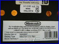 Nintendo Store Sign Display N64 1996 Rare Vintage Original Unused MINT