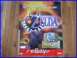 Nintendo Store Sign Display Zelda Majoras Mask Rare VIntage Original Unused
