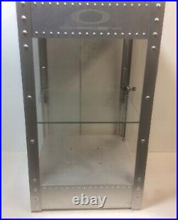 Oakley Vtg Rare Display Case Metal Riveted Original X Counter Table Top With Key
