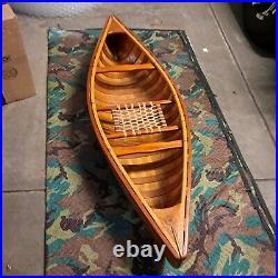 Old vintage canoe Store Display