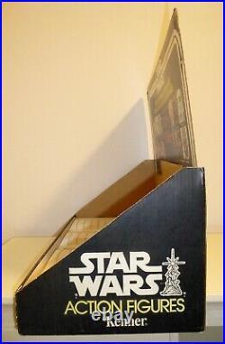 Original Vintage Kenner Star Wars 12 Back Shop Store Display Header Bin Tray Rar