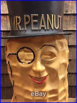 Original Vintage Planters Mr Peanut Parade Costume Store Display Mascot Sign 48