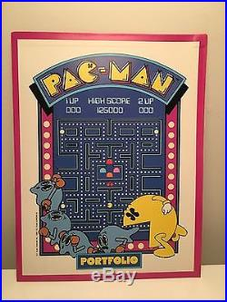 PACMAN Store Display Vintage Portfolios New Old Stock Midway 1980 Pac-Man