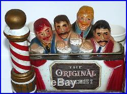 Pabst Blue Ribbon Beer Barber Shop Pole Quartet Singers Vtg Store Display PBR