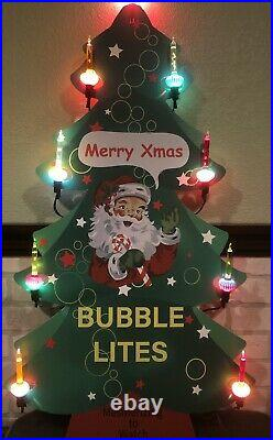 Pair Vintage Style Noma Bubble Light Store Display 1 Each of Santa and Snowman