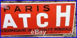 Plaque Emaillée vintage PARIS MATCH Magazine Press Weekly