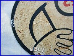 Plaque tole Pin Up publicitaire originale Esso drop fille pub vintage