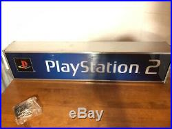 PlayStation 2 IN BOX Vintage STORE PROMO Lighted Display Sign LIGHT BOX PS2