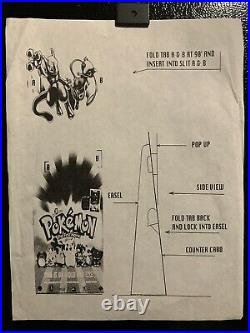Pokemon The First Movie Counter Display Store Standee Rare Vintage Nintendo