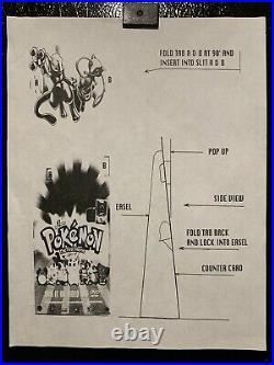 Pokemon The First Movie Store Standee Counter Display Rare Vintage Nintendo