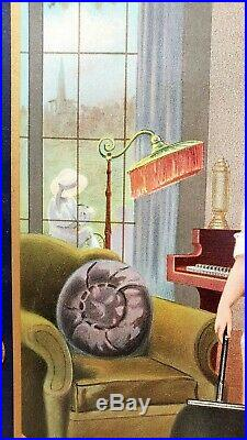 RARE Antique Vintage EUREKA VACUUM CLEANER Metal Store Display Sign Original