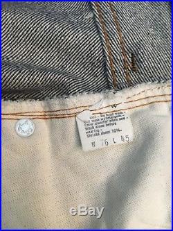 RARE Levi's 501 XX REDLINE Store Display Jeans W76 L45 Levi Indigo Denim