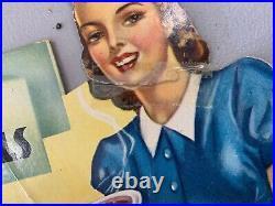 RARE RARE Vintage Pyrex 95 Cent Bowls Cardboard Store Display Sign 15 x 9